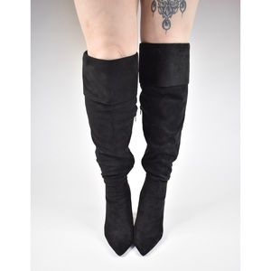 Women's Faux Suede Knee High Boots Sz. 10
